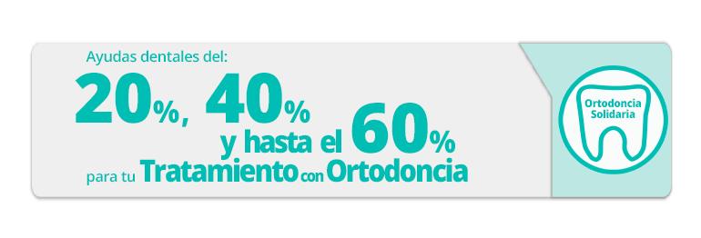 Con la ortodoncia solidaria puedes conseguir una ayuda dental hasta del 60% de tu tratamiento con Brackets, porque nosotros sí somos Dentistas de Corazón Real