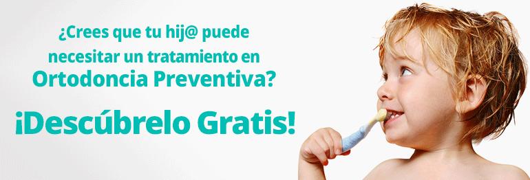 Consigue un tratamiento de Ortodoncia preventiva en niños de 3 a 6 años ¡Con todo incluido y 15 meses de financiación gratuita!